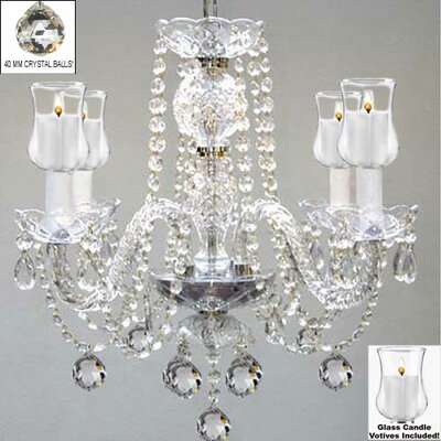 Kewstoke 4-Light Crystal Chandelier