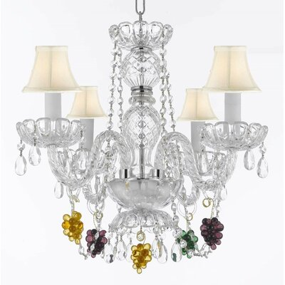 Atherstone 4-Light Crystal Chandelier