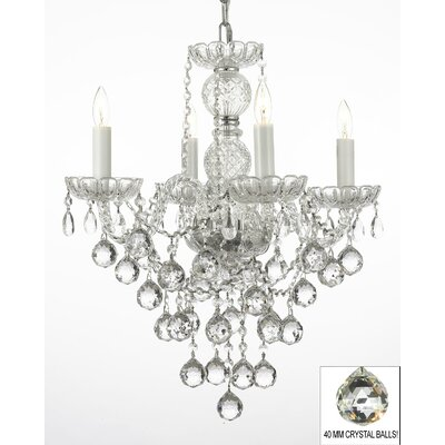 Kiernan 4-Light Crystal Chandelier
