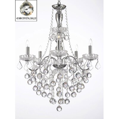 Elegant 5-Light Crystal Chandelier