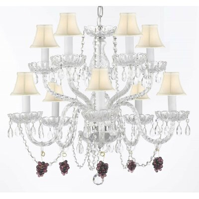 Kidd 10-Light Crystal Chandelier