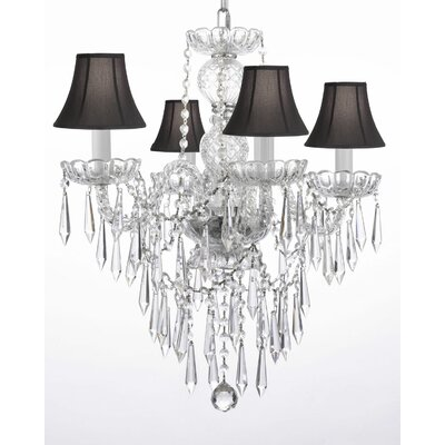 Authentic 4-Light Crystal Chandelier
