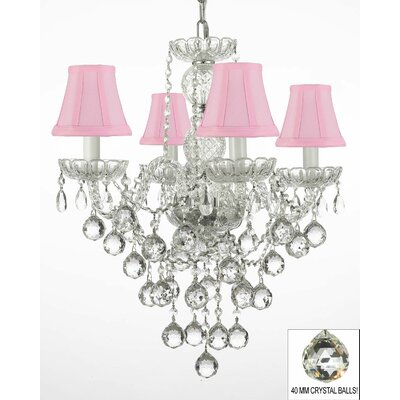 Kilpatrick 4-Light Crystal Chandelier