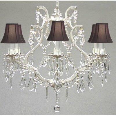 Clemence 6-Light Bell Shade Crystal Chandelier