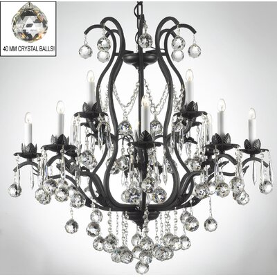 Alvan 12-Light 40W Crystal Chandelier