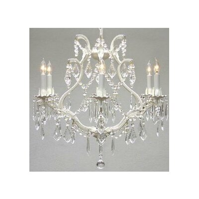 Maria Theresa 6-Light Crystal Chandelier Finish: White