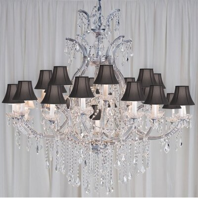 Alvarado 24-Light Silver/Black Crystal Chandelier