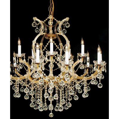 Keenum 16-Light Crystal Chandelier