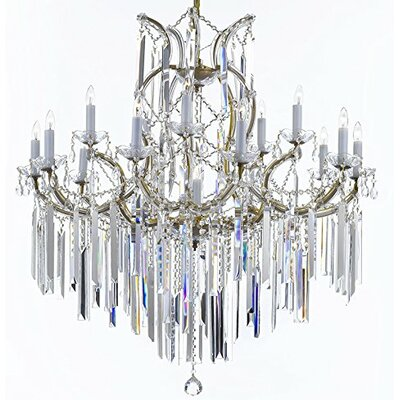 Maria Theresa Crystal Chandelier Finish: Golden
