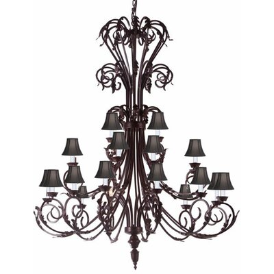 Clemence 24-Light Shaded Chandelier