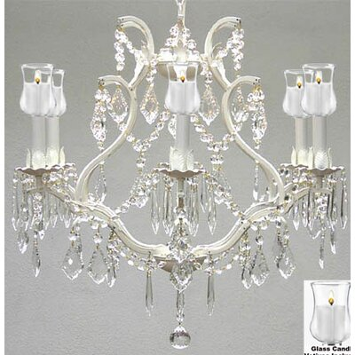 Clemence 6-Light White Crystal Chandelier