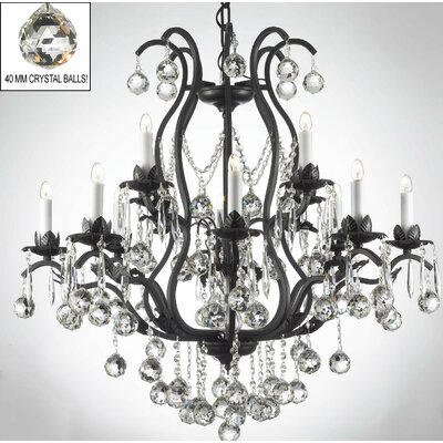 Alvan 15-Light Black/White Crystal Chandelier