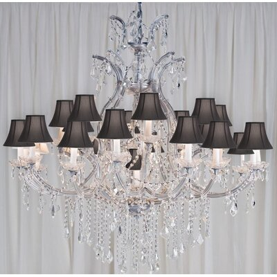 Alvarado 24-Light Crystal Chandelier