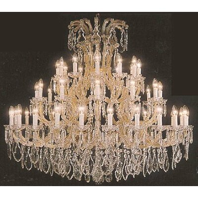 Alvarado 37-Light Chain Crystal Chandelier Color: Golden