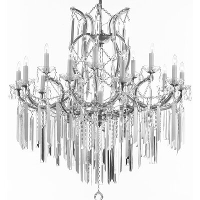 Dacia Crystal Chandelier Finish: Silver
