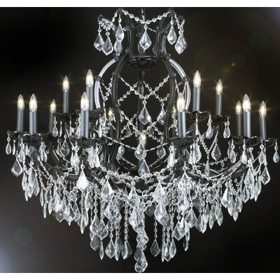 Alvarado 16-Light Black Chain Crystal Chandelier