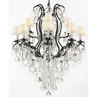 Keenum 12-Light Crystal Chandelier