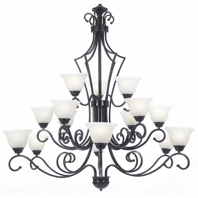 Faxon 15-Light Bowl Shaded Chandelier