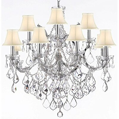 Keenum 11-Light Crystal Chandelier Shade Color: Cream