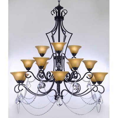 Alvan 15-Light Shaded Chandelier