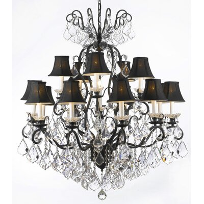 Clemence 16-Light Chrome Crystal Chandelier