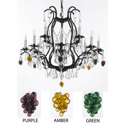 Alvan 12-Light Chain Crystal Chandelier