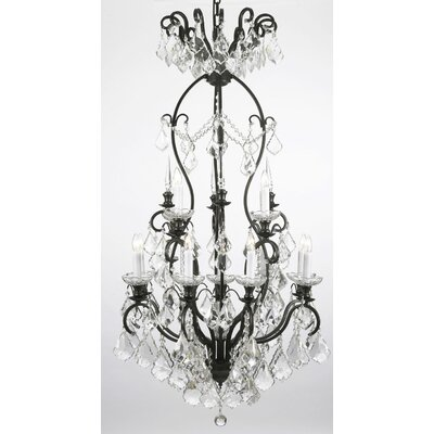 Alvan 13-Light Black Crystal Chandelier