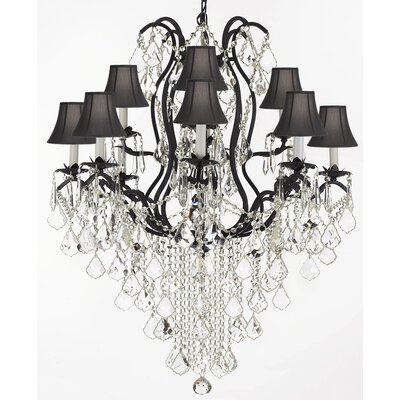 Clemence 12-Light Bell Shade Crystal Chandelier