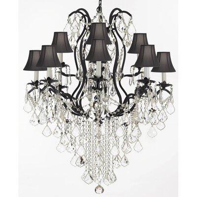 Clemence 12-Light Black Crystal Chandelier