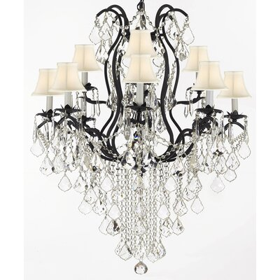 Alvan 11-Light Crystal Chandelier