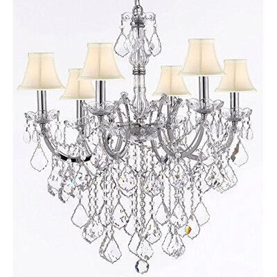 Maria Theresa 6-Light Crystal Chandelier Shade Color: Cream
