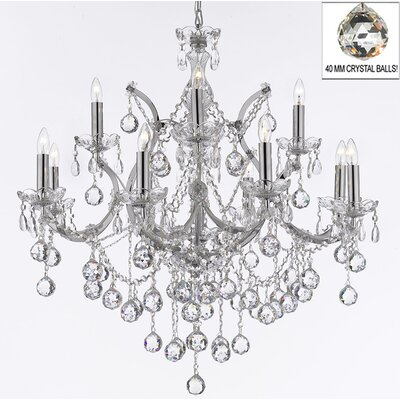 Keenum 13-Light Crystal Chandelier