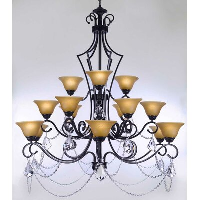 Alvan 15-Light Bowl Shaded Chandelier