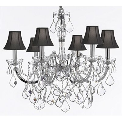 Keenum 6-Light Crystal Chandelier Shade Color: Black