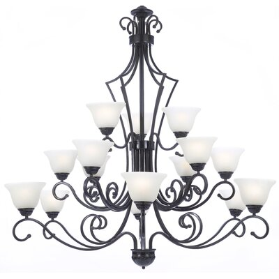 Faxon 15-Light Chain Shaded Chandelier