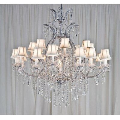 Keenum 24-Light Crystal Chandelier
