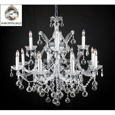 Alvarado 13-Light Silver Crystal Chandelier