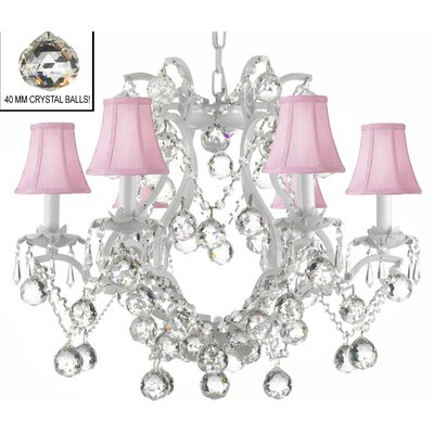Dacia 6-Light Crystal Chandelier