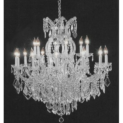 Alvarado 16-Light Silver Chain Crystal Chandelier