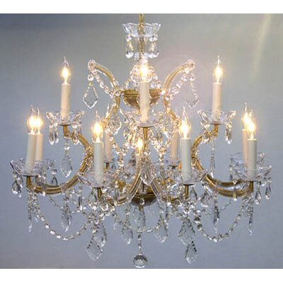 Alvarado 13-Light Gold Chain Crystal Chandelier