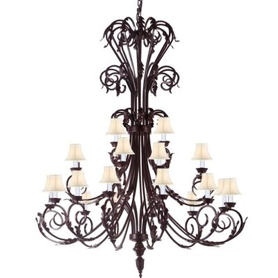 Alvan 24-Light Shaded Chandelier