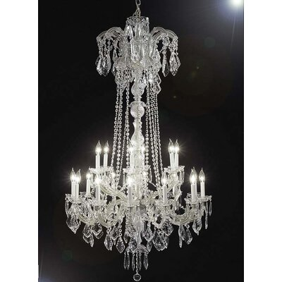 Alvarado 18-Light Silver Empress Crystal Chandelier