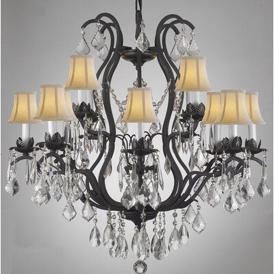 Alvan 12-Light Spectra Crystal Chandelier