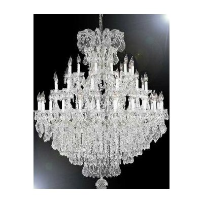 Alvarado 37-Light Silver Crystal Chandelier