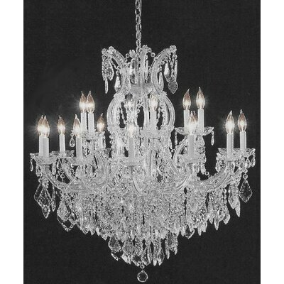 Alvarado 16-Light Silver Empress Crystal Chandelier
