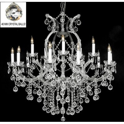 Alvarado 16-Light Empress Crystal Chandelier