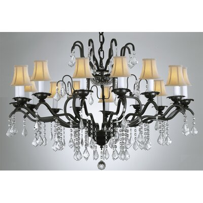 Alvan 12-Light Black Empress Crystal Chandelier