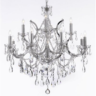 Alvarado 13-Light Chrome Crystal Chandelier