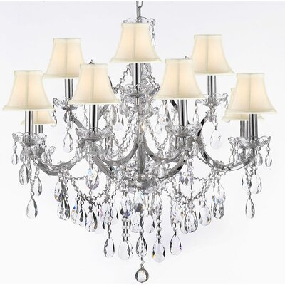 Keenum 9-Light Crystal Chandelier