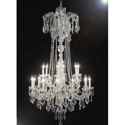 Alvarado 18-Light Silver Crystal Chandelier